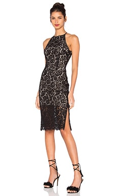 Let It Happen Lace Dress in Black