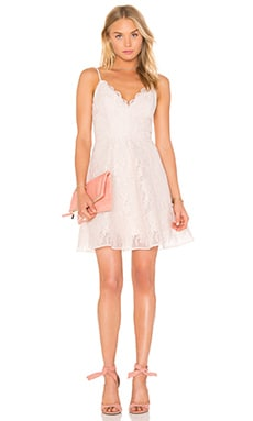 Sundream Lace Mini Dress in Shell