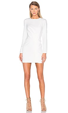 Come Apart Long Sleeve Dress en Ivoire
