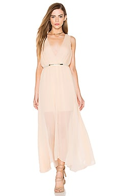 keepsake All Rise Maxi Dress in Biscuit