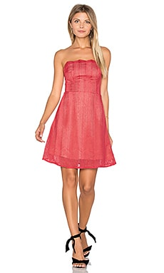 Think Twice Lace Mini Dress in Red Ochre