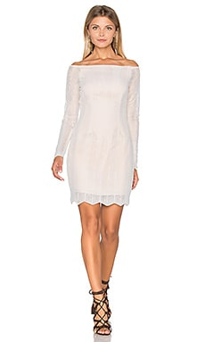 Think Twice Long Sleeve Lace Dress in Ivory