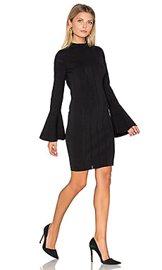 Lighthouse Knit Long Sleeve Dress en Noir