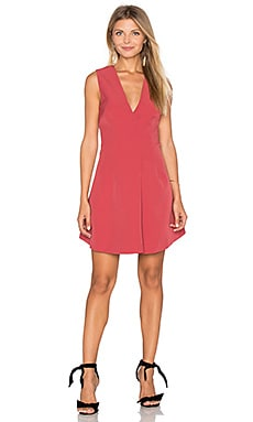 Walk The Wire Mini Dress in Red Ochre