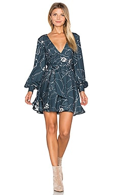 Heat Wave Mini Dress in Sketch Floral Dark