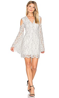 Porcelain Long Sleeve Lace Dress in Ivory