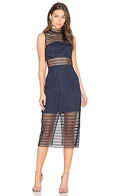 All Night Lace Midi Dress in Navy