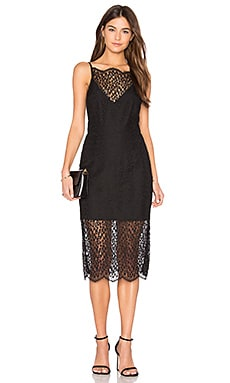 Day Dream Lace Midi Dress in Black