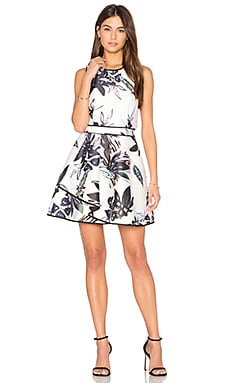 Coming Home Mini Dress in Abstract Floral Print