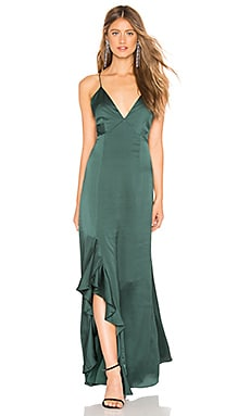Infinity Gown In Forest Green keepsake $225