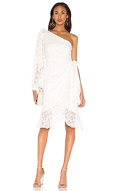 Retrospect Midi Dress In Ivory keepsake $255 Wedding