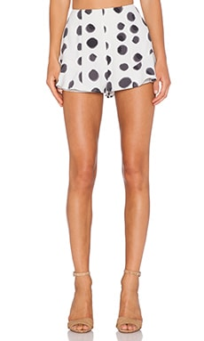 keepsake Take Me Away Short in Light Polka Dot