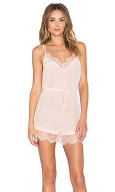 keepsake Stolen Dance Silk Romper in Shell