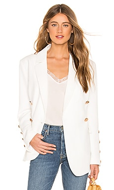 Just Mine Blazer In Ivory keepsake $251