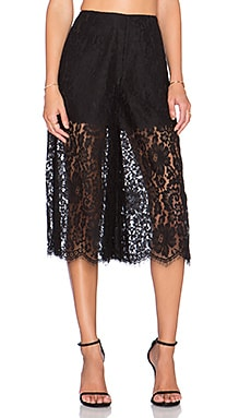 keepsake Script Lace Culottes in Black