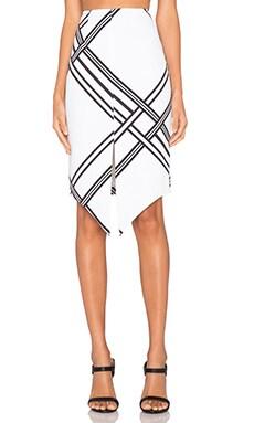 keepsake Tainted Romance Skirt in Ivory Woven Check Print