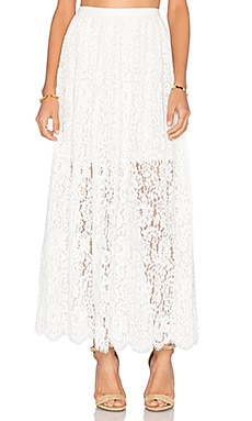 Stand Still Lace Skirt in Ivory