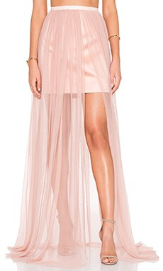 keepsake White Lies Skirt in Blush
