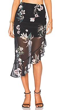 Cosmic Girl Skirt in Dark Garden Floral