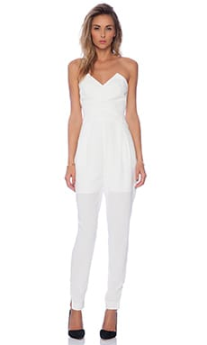 Holding Back Jumpsuit in Ivory