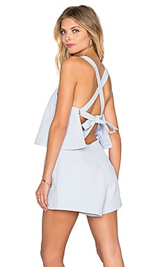 keepsake Learnt From You Romper in Pastel Blue
