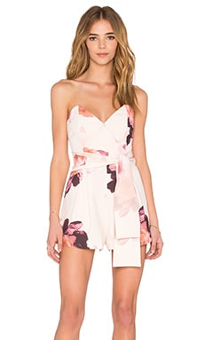 keepsake Get Free Romper in Light Faded Floral