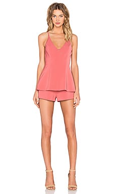 No Secrets Romper in Spice