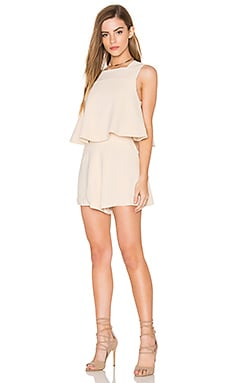 Slow Motion Playsuit in Cream