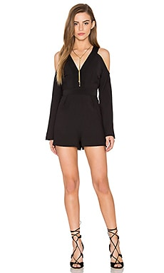 In Motion Playsuit en Noir