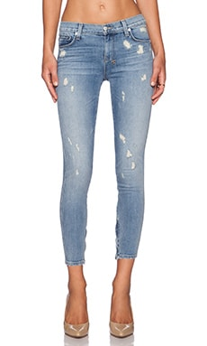 JEAN CROPPED SPRAY ON