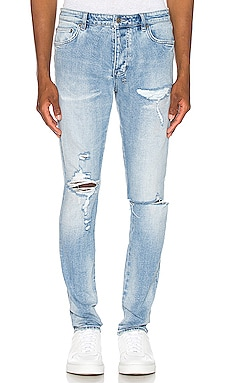 Chitch Punk Blue Thrashed Jean Ksubi $240 BEST SELLER