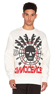 KTZ Shaman Print Gusset Sweatshirt in White