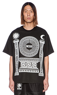 KTZ Graphic Tee in Black/White Print