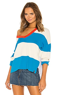 Striped V Neck Sweater Kule $298