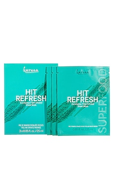 LOT DE MASQUES EN FEUILLES HIT REFRESH Karuna $14