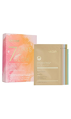 LOT DE MASQUES EN FEUILLES 7 DAYS OF GLOW Karuna $42