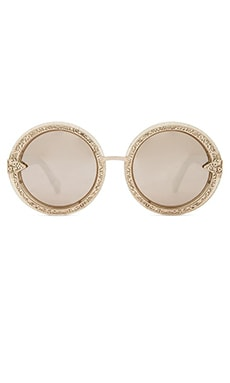 Karen Walker Orbit Filigree in Gold Glitter
