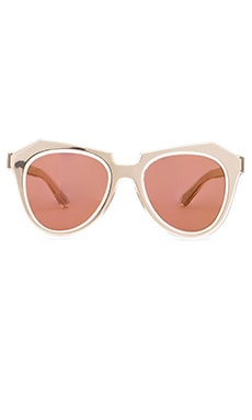 Karen Walker Number One in Gold with Brown Mono Gold Mirror