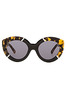 Karen Walker Flowerpatch in Crazy Tort & Black & Gold