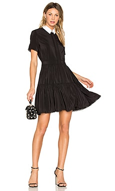 Silk Mini Dress in Black