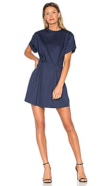 Tie Waist Dress in Midnight Blue