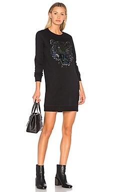 Классическое платье-свитшот с тигровым принтом - Kenzo