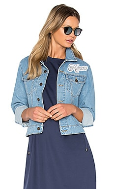 Denim Jacket in Bleached Blue