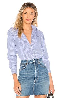 Фото - Рубашку classic fit - Kenzo синего цвета