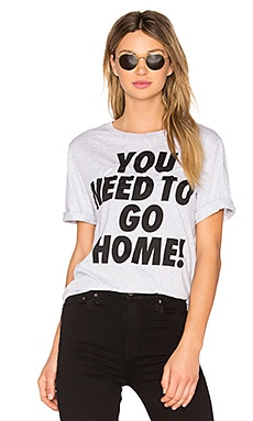 Single Jersey You Need To Go Home Tee en Gris Clair