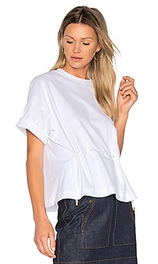 Tie Waist Top in White