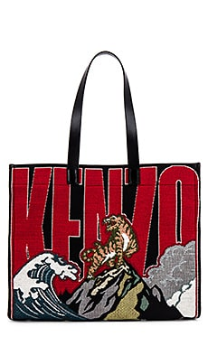 Placed Tiger Jacquard Tote Kenzo $530 Collections