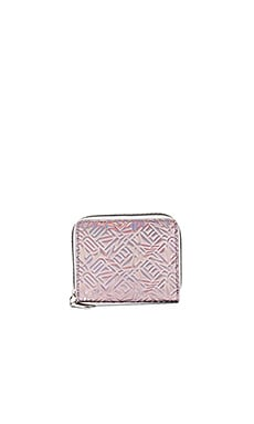 Metallic TPU Wallet in Rose Flamant