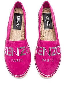 Paris Suede Espadrilles in Deep Fuchsia