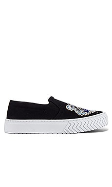 Canvas Tiger Head Embroidery Slip On Kenzo $265